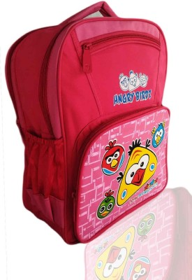 Digital Bazar Denver Pink Angry Birds Kids Cartoon Backpack(ANDROID)Edition Waterproof School Bag(Pink, 16 inch)  available at flipkart for Rs.1010