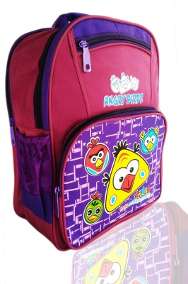 Digital Bazar Dellas Pink Angry Birds Kids Backpack Cartoon Net(AMERICAN) Edition Waterproof School Bag(Pink, 16 inch)  available at flipkart for Rs.1099