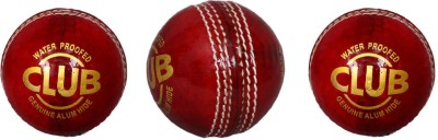 Priya Sports PCRED 3 Cricket Leather Ball Pack of 3, Red Priya Sports Cricket Balls