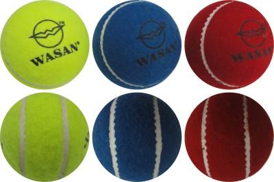 WASAN Tennis Cricket Tennis Ball Pack of 3, Multicolor WASAN Cricket Balls