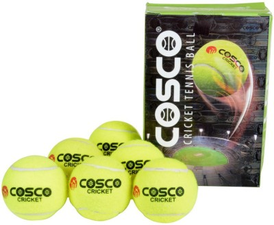 Cosco Light Weight Cricket Tennis Ball(Pack of 6, Yellow)  available at flipkart for Rs.299