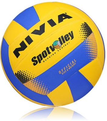 Nivia Spot Volleyball - Size: 4(Pack of 1, Yellow, Blue)