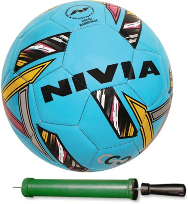 Nivia Revolvo Size-5 Football With Pump Football - Size: 5(Pack of 1, Red, Yellow, White, Grey, Orange)  available at flipkart for Rs.790
