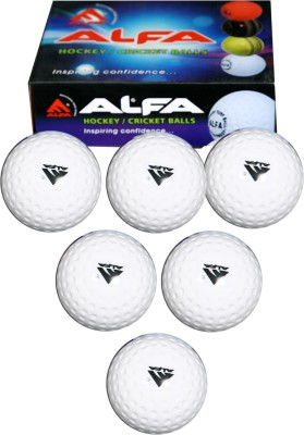 Alfa Hollow Hockey Ball -   Size: 5(Pack of 6, White)