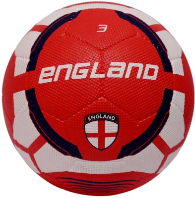Vector X England Rubber moulded Football - Size: 3(Pack of 1, Red, White)