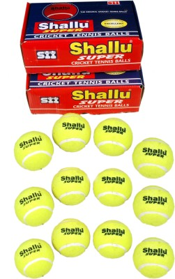 SII Shallu Super Cricket Tennis Ball Pack of 2, Yellow SII Cricket Balls