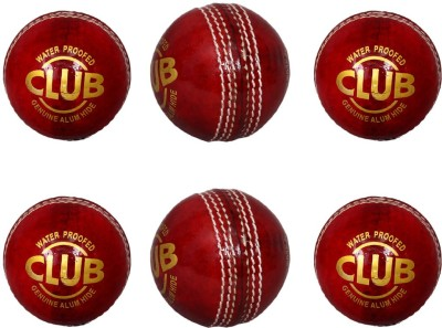 Priya Sports PCRED 6 Cricket Leather Ball Pack of 6, Red Priya Sports Cricket Balls