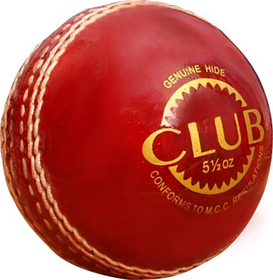 CE Sigma Club Cricket Leather Ball Pack of 1, Red CE Cricket Balls