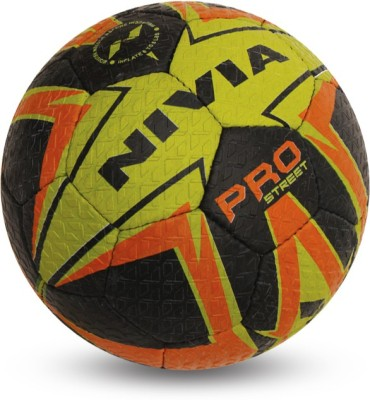 Nivia Football Pro Street Football -   Size: 5(Pack of 1, Black)  available at flipkart for Rs.488