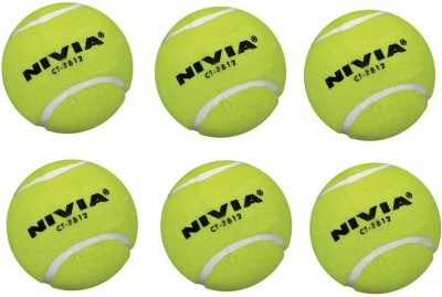Nivia Cricket Tennis Ball(Pack of 6, Yellow)  available at flipkart for Rs.399