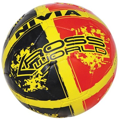 Nivia Kross World Football   Size: 5 Pack of 1, Red, Black Nivia Footballs