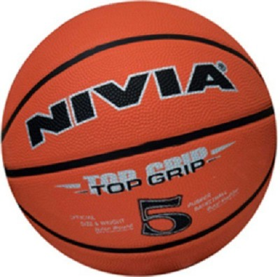 Nivia Top Grip Basketball - Size: 5(Pack of 1, Orange)