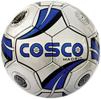 Cosco Madrid Football   Size: 5 Pack of 1, White, Blue Cosco Footballs