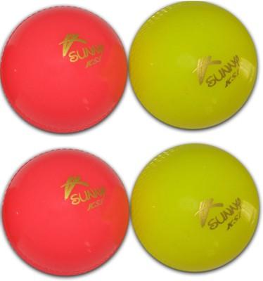 Sunny KSI Wind Cricket Rubber Ball Pack of 4, Multicolor Sunny KSI Cricket Balls