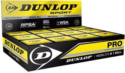 Dunlop Pro Squash Ball(Pack of 12, Black)