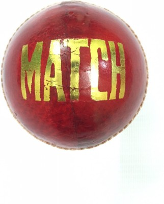 Red Rock Match Cricket Leather Ball Pack of 1, Red Red Rock Cricket Balls