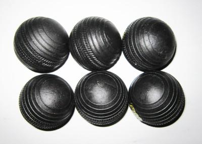 Arnav RUBBER Cricket Rubber Ball Pack of 6, Black