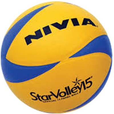 NIVIA Star Lather Pasted 15 Pannel Volleyball   Size: 4 Pack of 1, Multicolor NIVIA Volleyballs