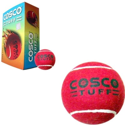 Cosco Tuff Cricket Tennis Ball(Pack of 6, Red)  available at flipkart for Rs.375