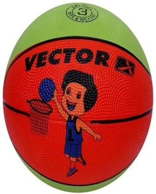 VECTOR X BB TOON GREEN ORANGE Basketball   Size: 3 Pack of 1, Green, Orange VECTOR X Basketballs