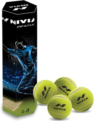 Nivia Mid Weight Cricket Tennis Ball(Pack of 4, Yellow)  available at flipkart for Rs.273