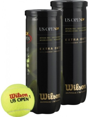 Wilson US Open Tennis Ball -   Size: Standard(Pack of 2, Yellow)  available at flipkart for Rs.780