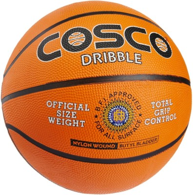 COSCO Dribble Basketball   Size: 7 Pack of 1, Orange COSCO Basketballs