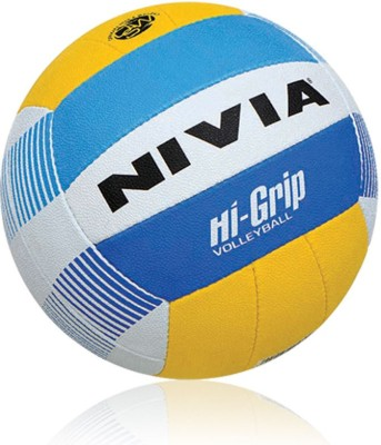 NIVIA Hi Grip Volleyball   Size: 3 Pack of 1, Yellow NIVIA Volleyballs