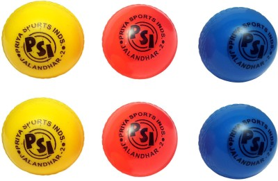 Priya Sports Top Wind Cricket Synthetic Ball Pack of 6, Multicolor Priya Sports Cricket Balls