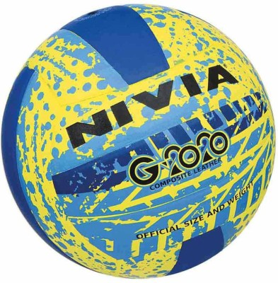 Nivia G2020 Volleyball -   Size: 4(Pack of 1, Yellow, Blue)  available at flipkart for Rs.709
