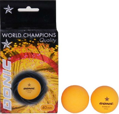 Donic Table Tennis Ball Ping Pong Ball -   Size: Standard(Pack of 6, Orange)  available at flipkart for Rs.168