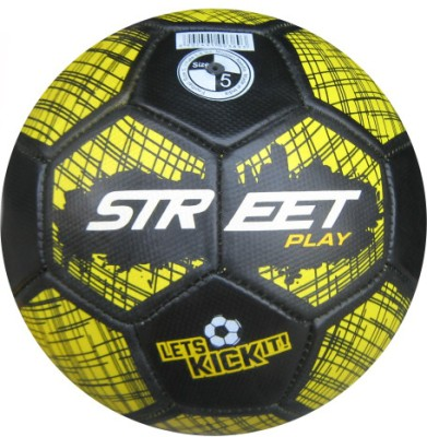 Speed Up Street Play Football - Size: 5(Pack of 1, Yellow, Black)