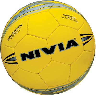 Nivia Super Synthetic Football - Size: 5(Yellow)  available at flipkart for Rs.580
