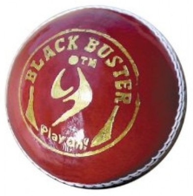 SM Black Buster Cricket Leather Ball Pack of 1, Red SM Cricket Balls
