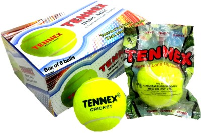 Tennex Cricket Tennis Light Cricket Ball -   Size: Standard(Pack of 6, Yellow)  available at flipkart for Rs.420