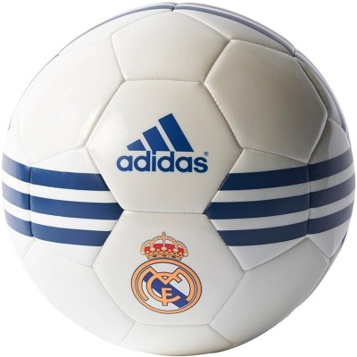 ADIDAS Real Madrid Football - Size: 5(Pack of 1, White, Blue) at flipkart