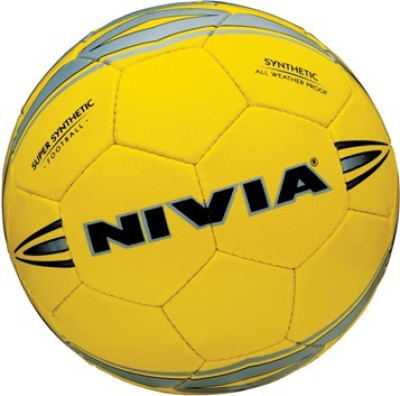 Nivia Super Synthetic Football   Size: 5 Pack of 1, Yellow
