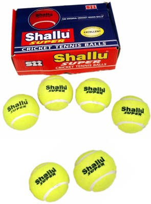 SII Shallu Super Cricket Tennis Ball Pack of 1, Yellow