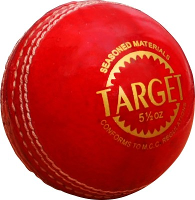 CE Sigma Target Cricket Leather Ball Pack of 1, Red
