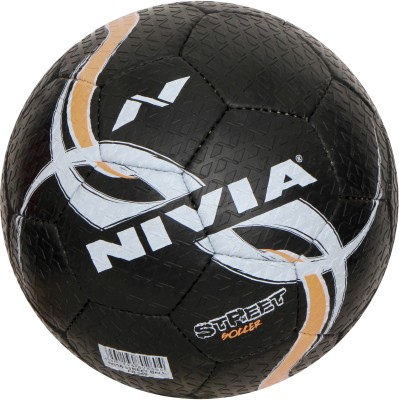 Nivia Street Football -   Size: 5(Pack of 1, Black)  available at flipkart for Rs.505