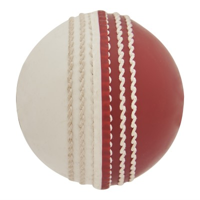 Omtex Incredible Cricket Leather Ball Pack of 1, Red, White Omtex Cricket Balls