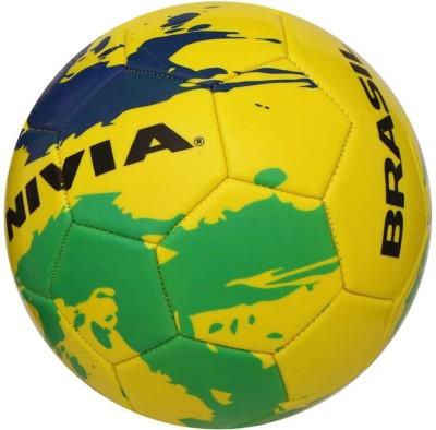 Nivia Foam Splash Brasil Football   Size: 5 Multicolor Nivia Footballs