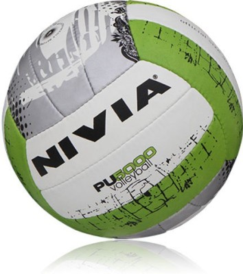 Nivia PU-5000 Volleyball - Size: 4(Pack of 1, White, Green)  available at flipkart for Rs.600