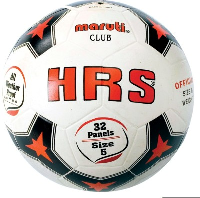 HRS Club Football   Size: 5 Pack of 1, White