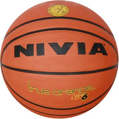 NIVIA True Orange Basketball   Size: 6 Pack of 1, Black, Orange NIVIA Basketballs