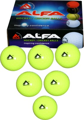 Alfa Hollow Hockey Ball -   Size: 5(Pack of 6, Yellow)