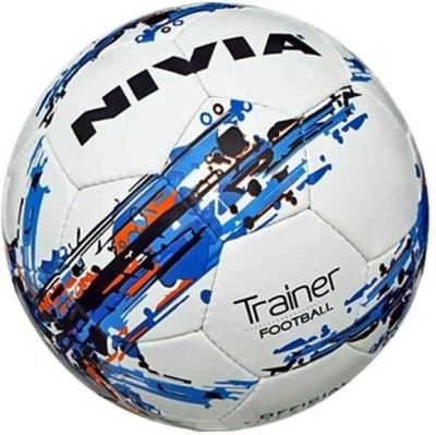 Nivia Trainer Football (Fb-264) Assorted Football - Size: 5(Pack of 1, White, Blue)  available at flipkart for Rs.570