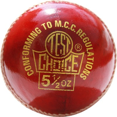 RS Robinson Test Choice Cricket Leather Ball Pack of 1, Red