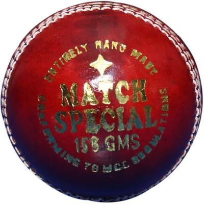 RKC MATCH SPECIAL Cricket Leather Ball Pack of 1, Red