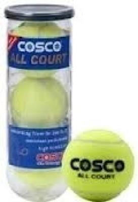 COSCO All Court Tennis Ball Pack of 3, Yellow COSCO Tennis Balls